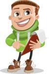 Boy with Hoodie Cartoon Vector Character AKA Hoody Cody - Notepad 3