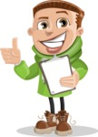 Boy with Hoodie Cartoon Vector Character AKA Hoody Cody - Notepad 4