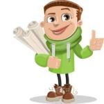 Boy with Hoodie Cartoon Vector Character AKA Hoody Cody - Plans