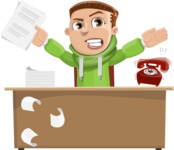 Boy with Hoodie Cartoon Vector Character AKA Hoody Cody - Office Fever