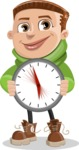 Boy with Hoodie Cartoon Vector Character AKA Hoody Cody - Time is Yours
