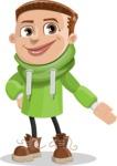 Boy with Hoodie Cartoon Vector Character AKA Hoody Cody - Show 1
