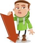 Boy with Hoodie Cartoon Vector Character AKA Hoody Cody - Pointer 3