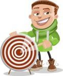Boy with Hoodie Cartoon Vector Character AKA Hoody Cody - Target