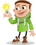 Boy with Hoodie Cartoon Vector Character AKA Hoody Cody - Idea 1