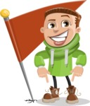 Boy with Hoodie Cartoon Vector Character AKA Hoody Cody - Checkpoint
