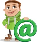 Boy with Hoodie Cartoon Vector Character AKA Hoody Cody - Email