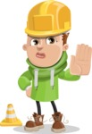 Boy with Hoodie Cartoon Vector Character AKA Hoody Cody - Under Construction 1