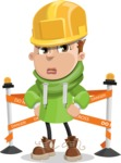 Boy with Hoodie Cartoon Vector Character AKA Hoody Cody - Under Construction 2