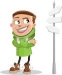 Boy with Hoodie Cartoon Vector Character AKA Hoody Cody - Crossroad
