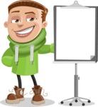 Boy with Hoodie Cartoon Vector Character AKA Hoody Cody - Presentation 1
