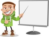 Boy with Hoodie Cartoon Vector Character AKA Hoody Cody - Presentation 2