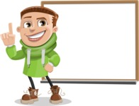 Boy with Hoodie Cartoon Vector Character AKA Hoody Cody - Presentation 3