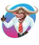 Business Buffalo Cartoon Vector Character - Shape 1