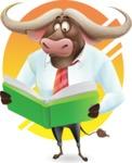 Business Buffalo Cartoon Vector Character - Shape 10