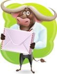 Business Buffalo Cartoon Vector Character - Shape 11