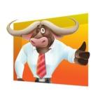 Business Buffalo Cartoon Vector Character - Shape 3