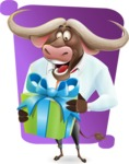 Business Buffalo Cartoon Vector Character - Shape 5