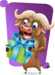 Funny Buffalo Cartoon Character - Shape 5