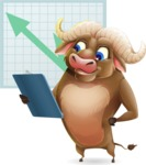 Funny Buffalo Cartoon Character - Shape 6