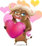 Funny Buffalo Cartoon Character - Shape 7