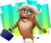 Funny Buffalo Cartoon Character - Shape 8