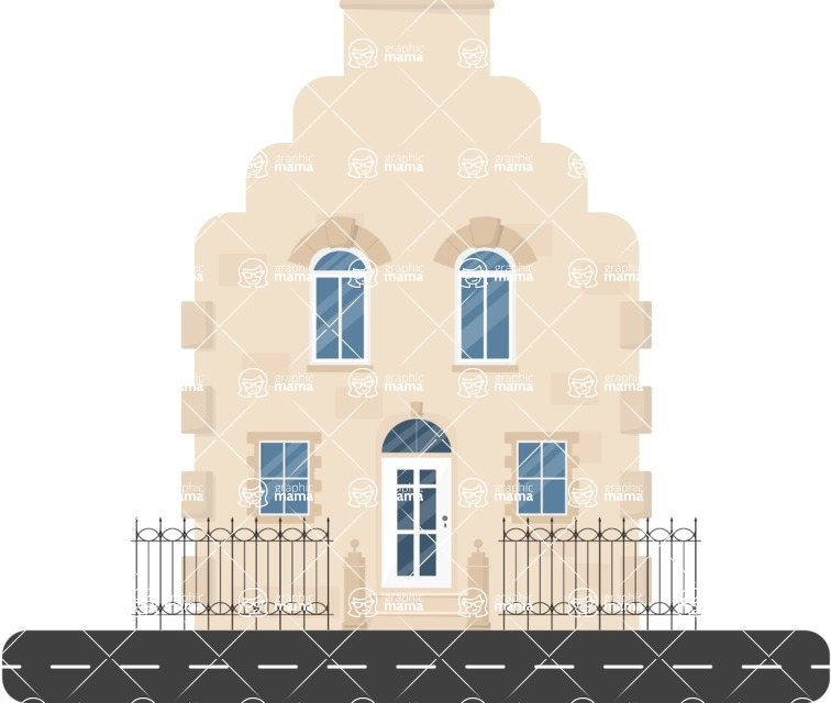 Building Vector Graphic Maker - Luxury house
