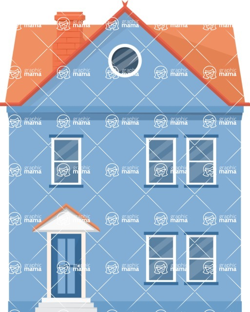 Building Vector Graphic Maker - Small family house