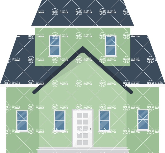 Building Vector Graphic Maker - Big family house