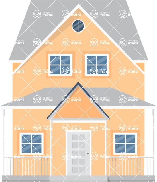 Building Vector Graphic Maker - House with a veranda