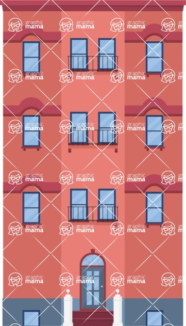 Building Vector Graphic Maker - Apartment building
