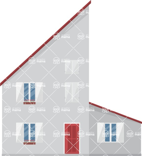 Building Vector Graphic Maker - House with many rooms