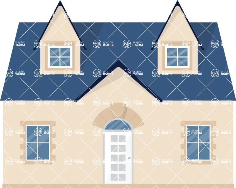 Building Vector Graphic Maker - Awesome big house
