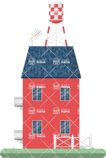 Building Vector Graphic Maker - Farm house