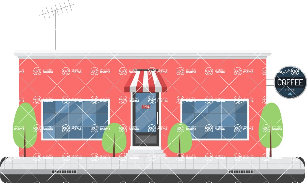 Building Vector Graphic Maker - Public house