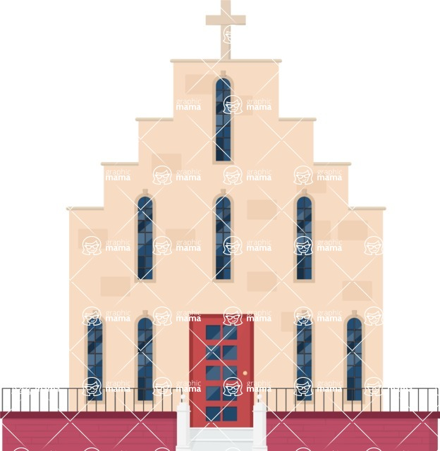 Building Vector Graphic Maker - Church