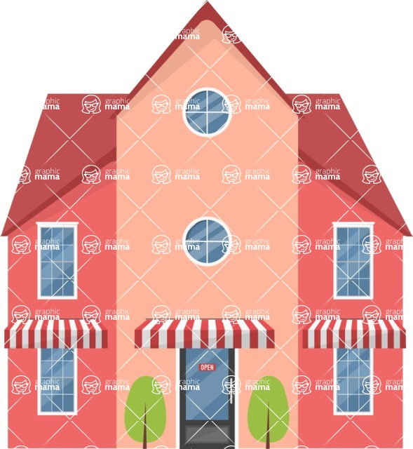 Building Vector Graphic Maker - House with a store