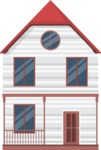Building Vector Graphic Maker - American Style House