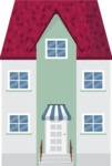 Building Vector Graphic Maker - Cute house in the city