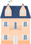 Building Vector Graphic Maker - Three-storey house