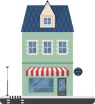 Building Vector Graphic Maker - House with a shop