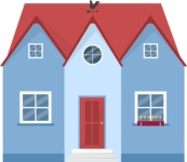 Building Vector Graphic Maker - Blue family house