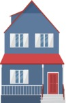 Building Vector Graphic Maker - Nice blue house