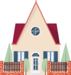 Building Vector Graphic Maker - Cute city house