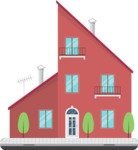 Building Vector Graphic Maker - Big house in the city