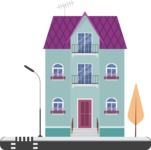 Building Vector Graphic Maker - Small building in the city