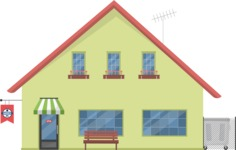 Building Vector Graphic Maker - house with a barber shop