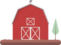 Building Vector Graphic Maker - Farm