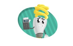 Energy Saving Light Bulb Cartoon Vector Character AKA Bulby Lightson - Being Cute and Smart Illustration Concept