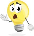 Light Bulb Cartoon Vector Character - Feeling Bored and Yawning